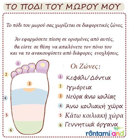 πόδι μωρού