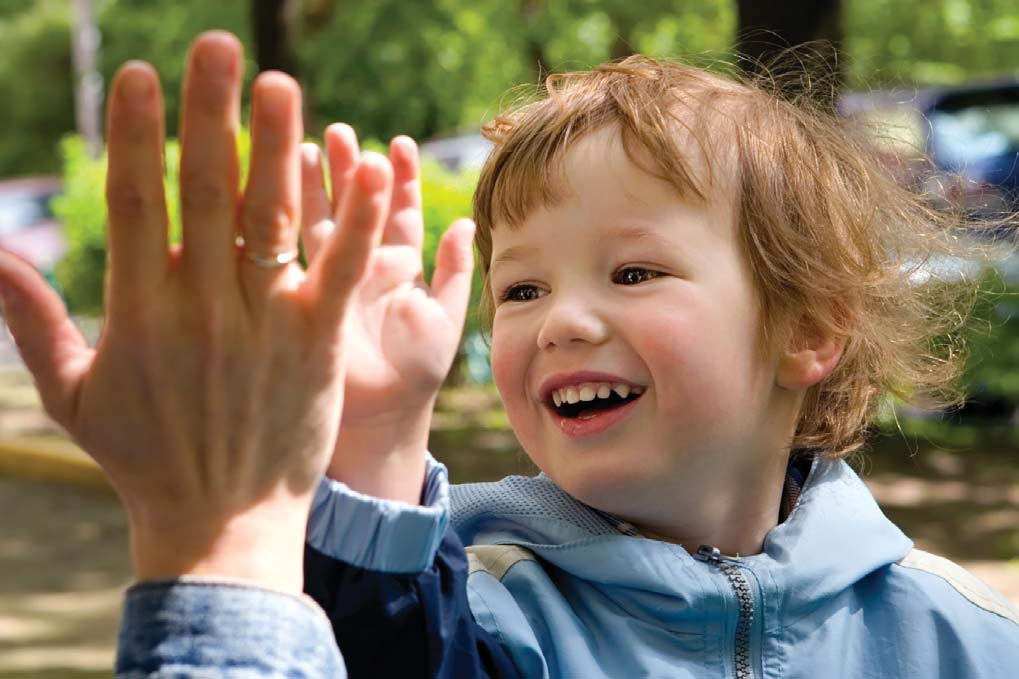 child high five